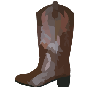 Adult Brown Cowboy Boots Reverse icon png