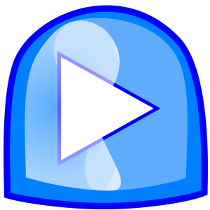 Blue Play Button icon png