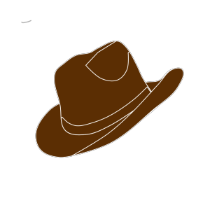 Brown Cowgirl Hat design