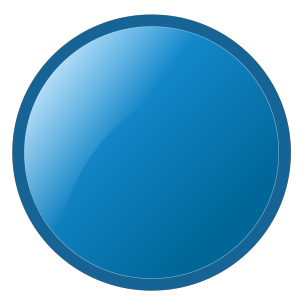 Glossy Blue Circle icon png
