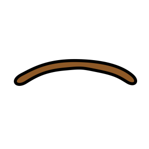 Brown Worm Shape icon png