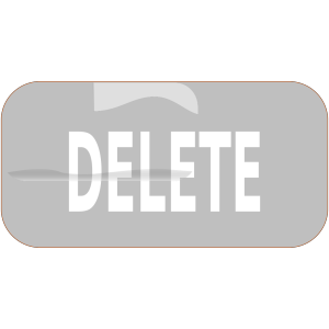 Gray Rectangle Delete Button icon png