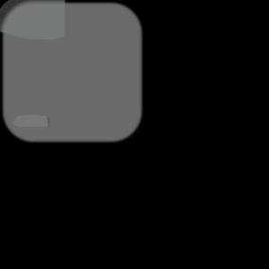 Gray Delete Square Button icon png