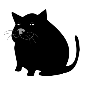 Fat Black Cat icon png