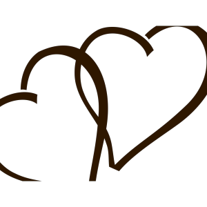 Deep Brown Hearts icon png