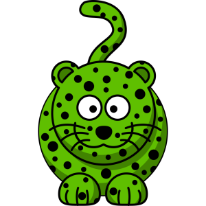 Green Leopard icon png