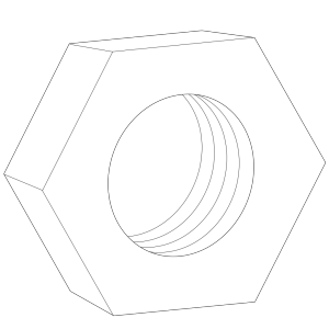 Hex Nut For Bolts icon png