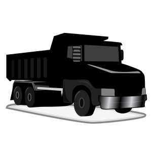 Black Gray Dump Truck icon png