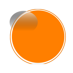Glossy Orange Button icon png