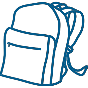 Blue Backpack icon png