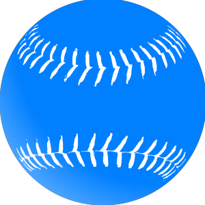 Blue Softball icon png