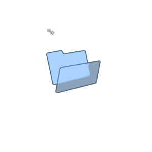 Blue Clipart Folder icon png