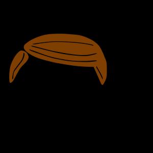 Plain Brown Hair icon png