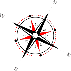 Red Black Compass icon png