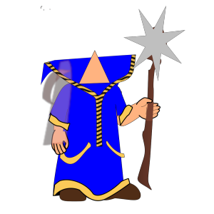 Headless Blue Wizard icon png