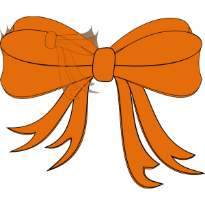 Black And Orange Ribbon icon png