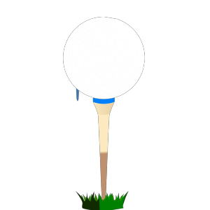 Golf Ball Blue Tee icon png