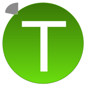 Green T icon png