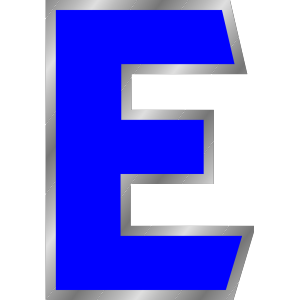 Monogram Letter E icon png