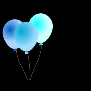 Emmas Blue Balloons design