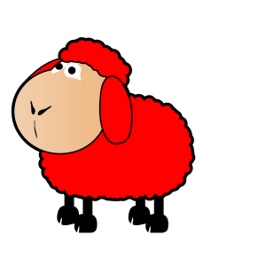 Red Sheep icon png