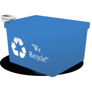 Recycle Bin Black White icon png
