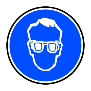 Obligatory Protection Against Fall Blue Sign Sticker icon png