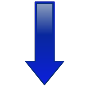 Arrow-down-blue icon png