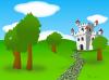 Cartoon Castle icon png