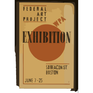 Exhibition - Wpa Federal Art Project  / Hg [monogram]. icon png