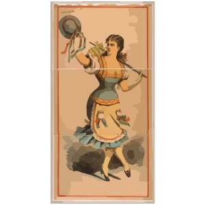 [dancing Chorus Girl With Cane And Blue Hat] icon png
