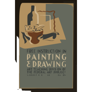 Free Instruction In Painting & Drawing Art Teaching Division Of The Federal Art Project, Works Progress Administration. icon png