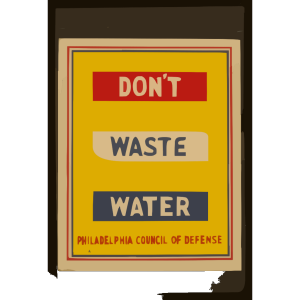 Don T Waste Water  / Penna Art Wpa. icon png