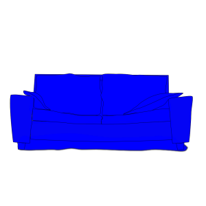 Blue Couch icon png