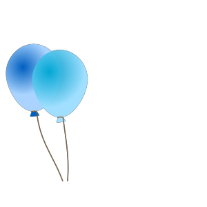 Emmas Blue Balloons icon png