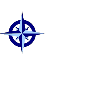 Blue Compass Rose icon png