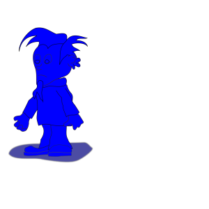 Blue Elf Dude icon png