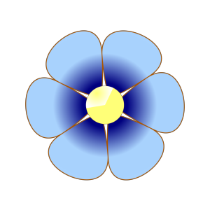 Blue Flower Purple icon png