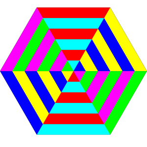 Hexagon Triangle Rainbow icon png