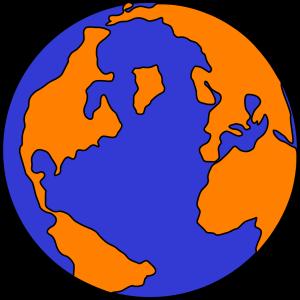 Orange And Blue Globe PNG, SVG Clip art for Web - Download