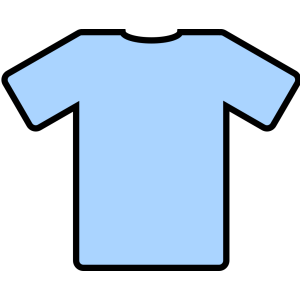 Light Blue T Shirt icon png