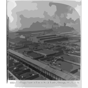 Birds-eye View Of Union Stock Yards, Chicago, Ill., U.s.a. icon png