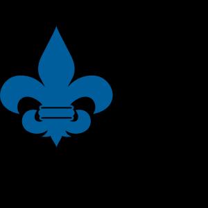 Cub Scout Blue Fleur De Lis icon png
