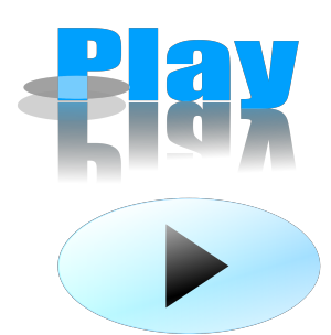 Glossy Blue Button icon png