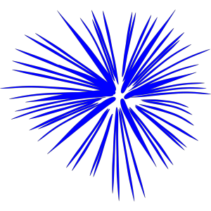 Blue Fireworks icon png