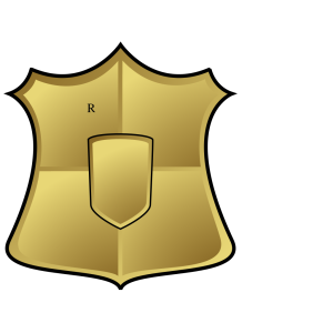 Blue Gold Shield icon png