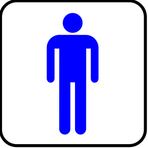 Man Blue With Boarder icon png