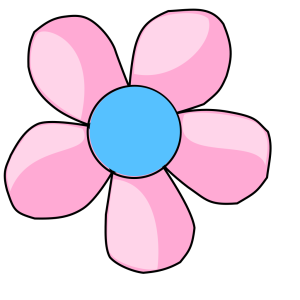 Daisy Pink And Blue icon png