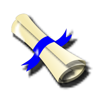Diploma Blue Ribbon icon png