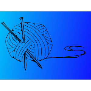 Knitting Needles With Ball Of Yarn  icon png